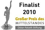 Auszeichnung Großer Preis des Mittelstandes Finalist 2010