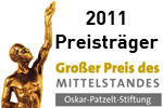 Auszeichnung Großer Preis des Mittelstandes Preisträger 2011